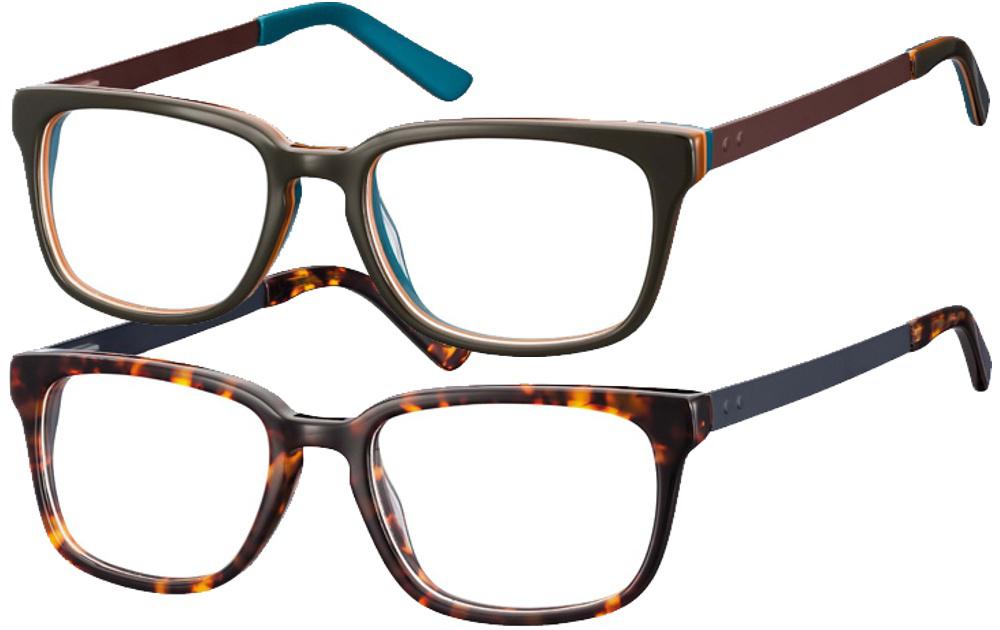 1A-sehen.de Sonnenbrille Sonnenbrille 7009 schwarz matt/türkis Ls1kYyx