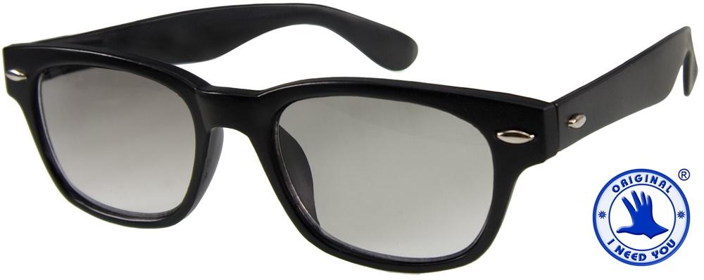 Sonnenlesebrille I NEED YOU WOODY SUN schwarz, +2,5 dpt