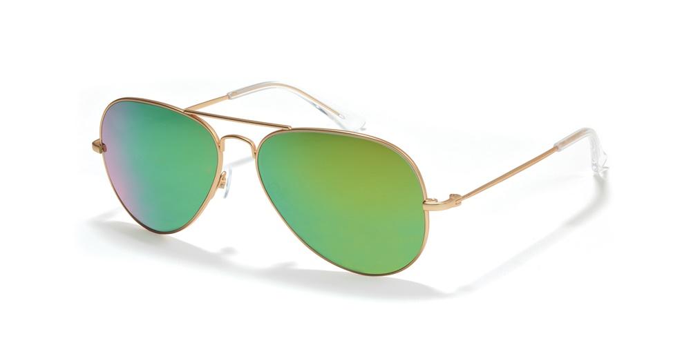 Nika Sonnenbrille Retro Sonnenbrille R2760 in Gold L6X3L7RzC4