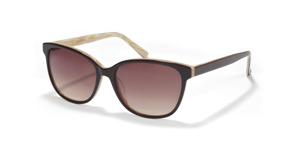 Nika Sonnenbrille Ladies Sonnenbrille S1760 in Schwarz/Creme sw1lw
