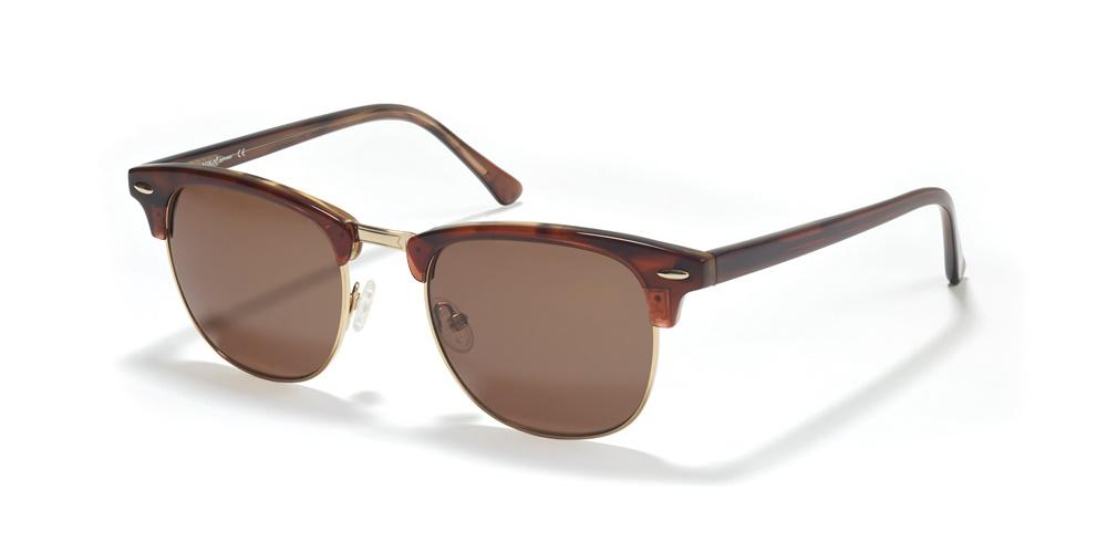 Nika Sonnenbrille Retro Sonnenbrille R2720 in Braun rTUpnkeh