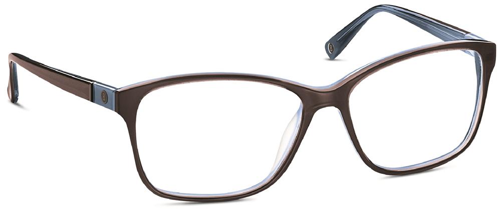 Brillenfassung Bogner 733029 60 Gr 53 15 In Dunkelbraun Blau Transparent