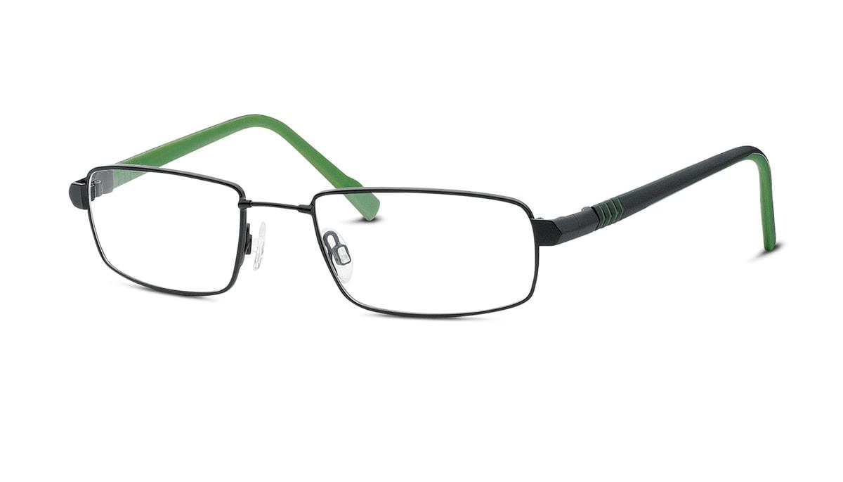 TITANflex CRUSH 850055 10 Brille in schwarz matt/grün 49/18 3xa9bo