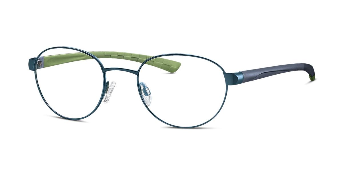 Brille TitanFlex 850079 70 in blau matt/blau guacamole Gr. 49/20