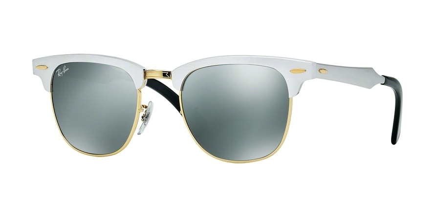 Ray Ban Ray-Ban 0rb3507 Clubmaster Aluminum 137/9j Silber Gr. 51/21 (mit Sehstärke) Tbv6O27aoF