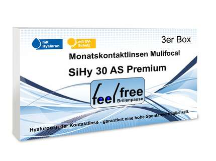 "Produktbild für ""1A - Feel free Brillenpause SiHy Hyaluron AS 3er Multifocal Mona"""