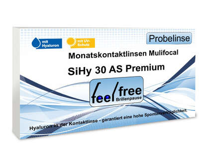 "Produktbild für ""1A - Feel free Brillenpause SiHy Hyaluron AS Multifocal Probeko"""
